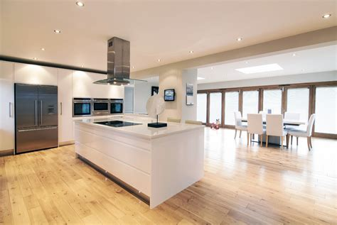 Kitchen Design Sheffield high gloss open plan kitchen diner by concept interiors