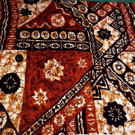 hawaiian print cotton fabric traditional tapa lava cloth