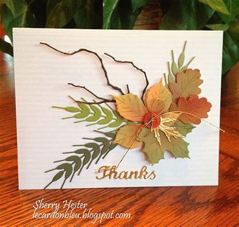 handmade card autumn greetings montage of sted