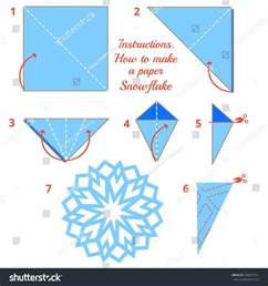 how make paper snowflake tutorial stock