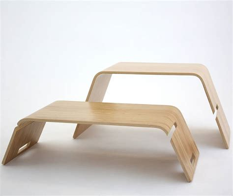 embrace bent plywood coffee table by green