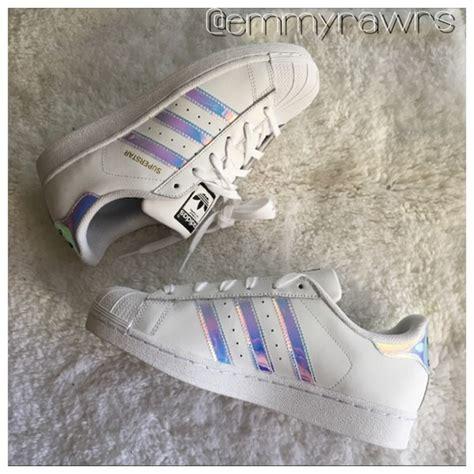 adidas shoes superstars holographic iridescent stripe poshmark