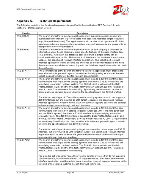 technical evaluation rfp technical evaluation plan