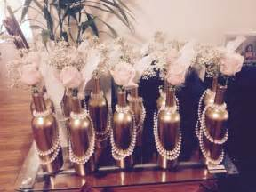 1920s themed decorations cheap and easy center pieces for a 1920s themed or