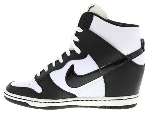 black and white wedge sneakers nike dunk sky high wedge sneakers in white black
