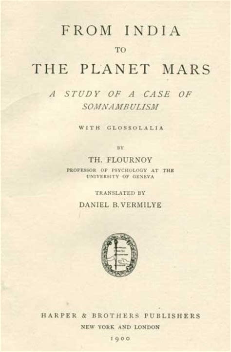 the from mars a study in the psychology of panic books from india to the planet mars title page