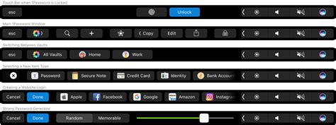 The Touch with touch id and the touch bar in 1password