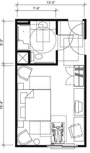 hotel room dimensions this drawing shows an accessible 13 foot wide guest room