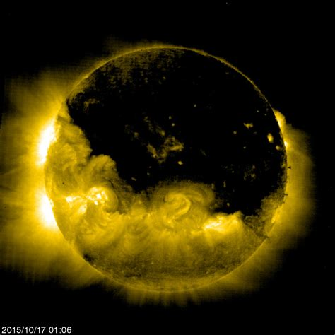 it is time the sun is darkening coronal covering