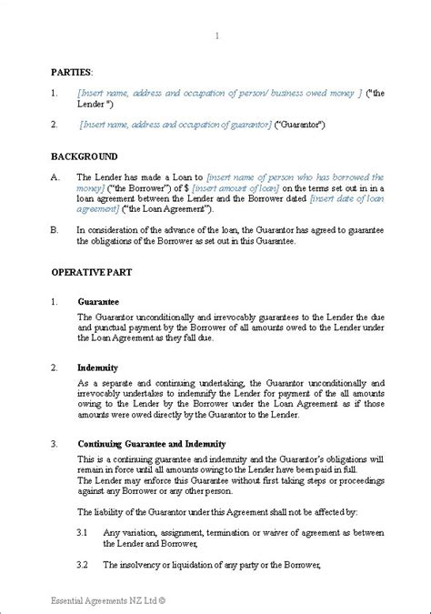 Agreement Letter For Guarantor Personal Guarantee Form Image Titled Write A Guarantor Letter Step 13 5 Ways To Write A