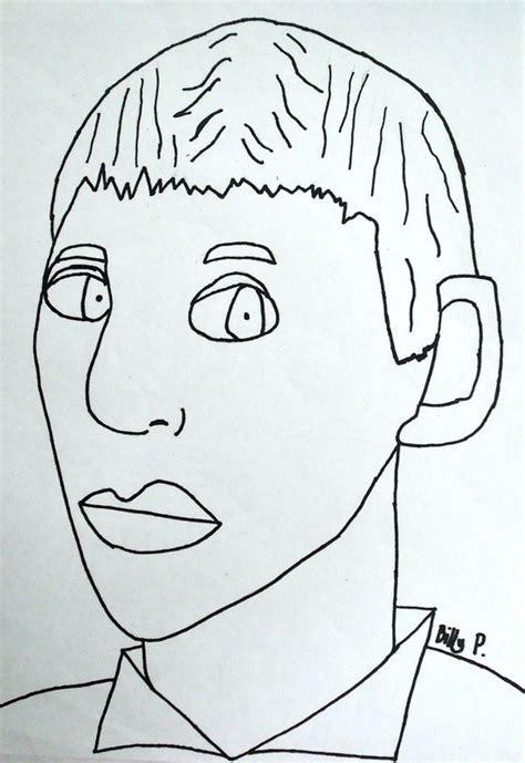 Monochromatic Self Portrait Template Self Portraits In 3 4 Pose By 5th Grade Dryden