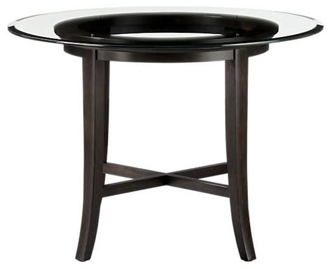 42 Glass Top Dining Table Halo Dining Table With 42 Quot Glass Top Modern Dining Tables By Crate Barrel