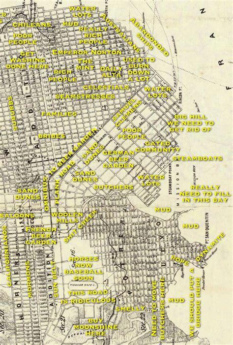 judgemental map of judgemental map of san francisco 1860s edition burrito