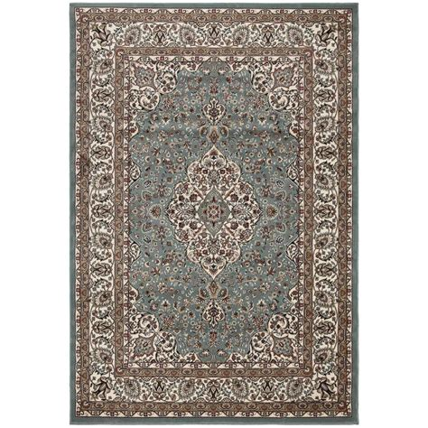 4x6 Area Rugs Home Depot Ottomanson Traditional Medallion Blue 3 Ft 11 In X 5 Ft 3 In Area Rug Rgl9076 4x6 The Home