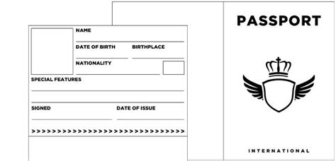 blank passport templates fake realia lesson planning