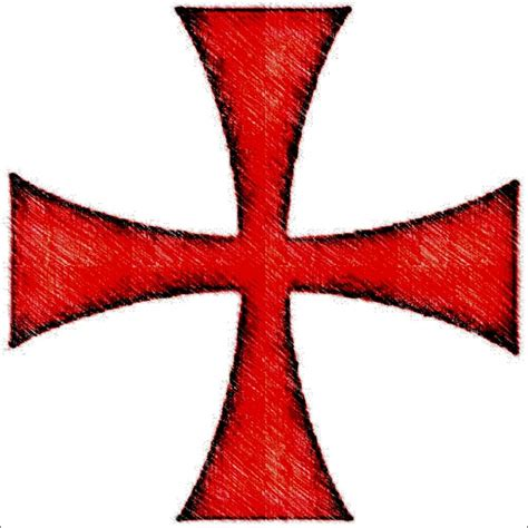 knights templar cross tattoo templar cross cliparts co