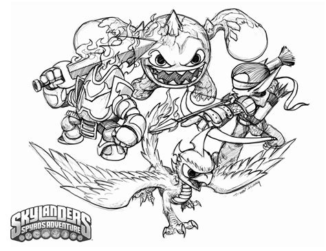 coloring pages skylanders free coloring pages of skylanders