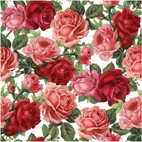 Flower Print seamless flower print 9 by doncabanza roses