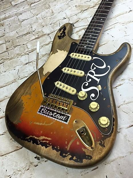 stevie ray vaughan srv  tribute custom shop stratocaster reverb