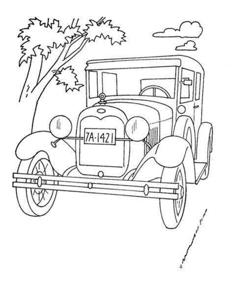 coloring page of model t car bluebonkers ford model t coloring pages cars
