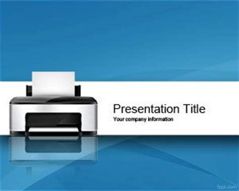 printer powerpoint template