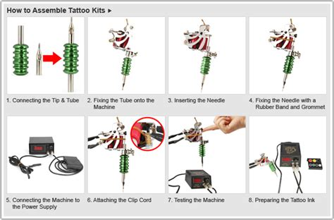 how to set up tattoo gun big ink complete kit with 4 professional guns