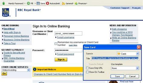 reset rbc online banking password rbc login automatically
