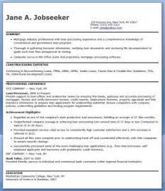 Sle Resume For Loan Processor by Mortgage Loan Processor Resume Templates Resume Downloads