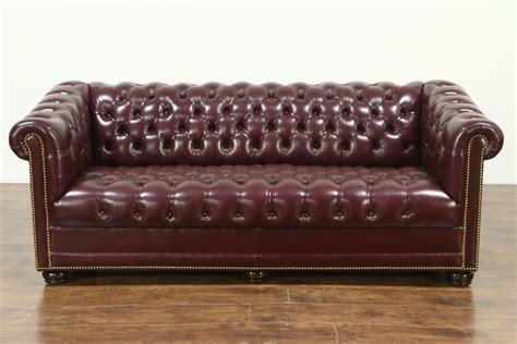 antique tufted leather sofa leather antique sofa vintage tufted leather sofa 1970s for