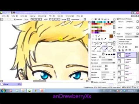 paint tool sai speed drawing a boy speed drawing paint tool sai