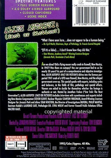 alien autopsy fact or fiction film tv 1995 premi alien autopsy fact or fiction dvd 1995 dvd empire