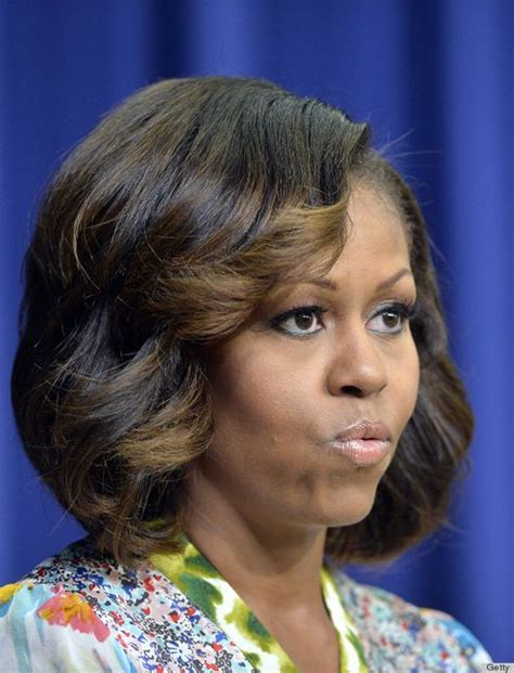 michelle obama haircut michelle obama debuts new ombre and longer hairstyle
