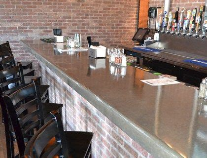 polished concrete bar top brick bar with polished concrete counter top love it