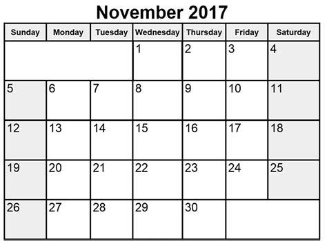 november 2017 calendar landscape calendar and images