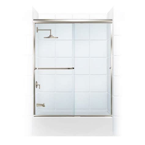 Towel Bar For Glass Shower Door Coastal Shower Doors Paragon 3 16 B Series 60 In X 57 In Semi Framed Sliding Tub Door With