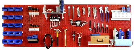 tool bench organization wall control master workbench metal pegboard tool
