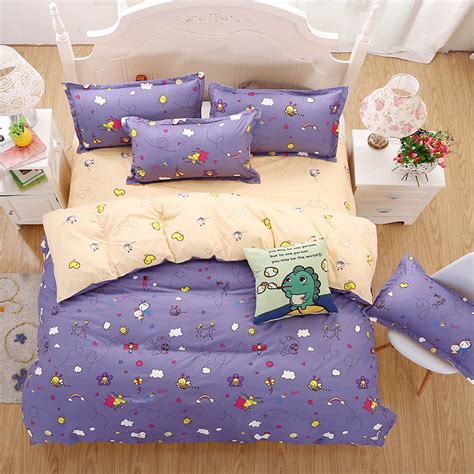 cute queen bedding 2016 new bedding sets purple style cute little bee