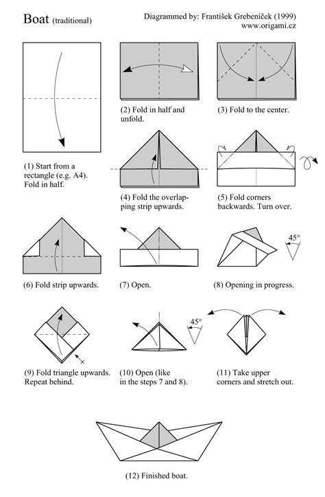 Folding Paper Boat - origami boat shower ideas