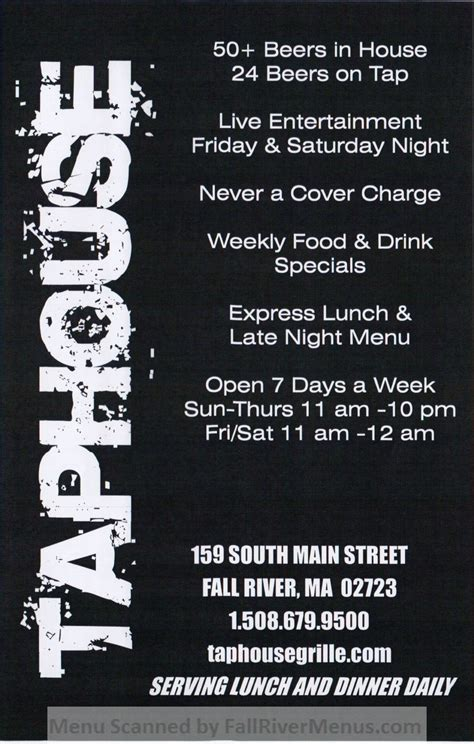 Fall River House Of Pizza by Taphouse Grille Fall River Restaurants
