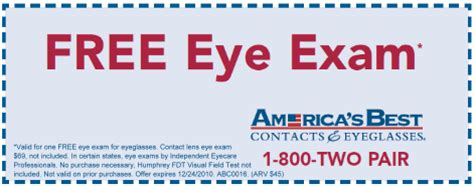 minnesota coupon adventure: free eye exam from america's best