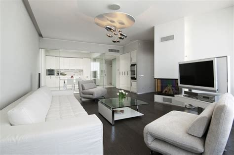 Modernes Wohnzimmer Braun Glas Und Wei 223 Couchtisch Design Ideen F 252 R Das Moderne