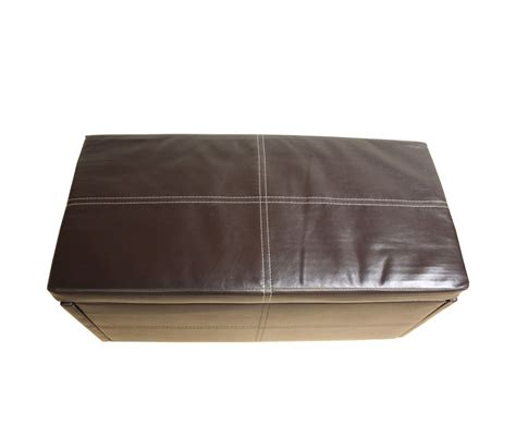 Small Leather Ottoman Toni Small Brown Faux Leather Ottoman Special Offer