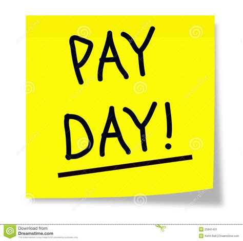 when day pay day stock image image 25841431