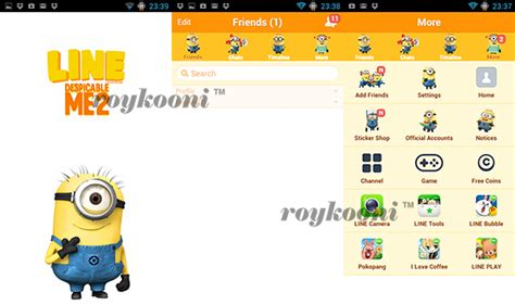 theme line for android despicable me theme line doraemon for android