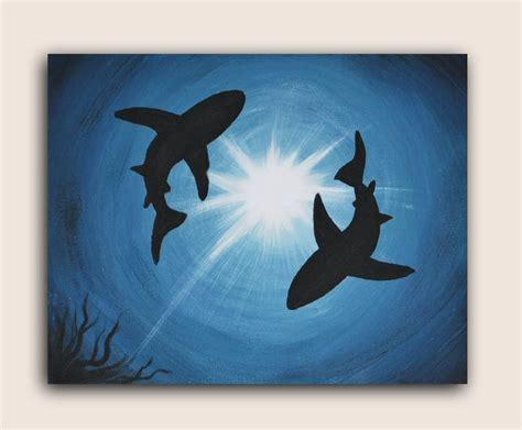 easy acrylic painting ideas pin it like image art pinterest easy acrylic paintings acrylic painting on canvas shark infestation