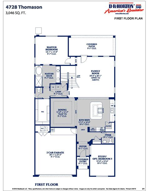 dr horton floor plan archive summerlake dr horton homes