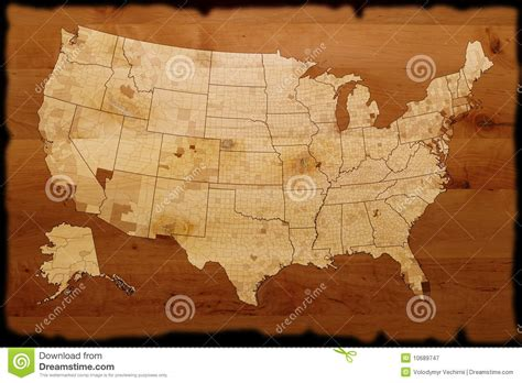 ancient american map ancient usa map royalty free stock photography image