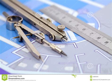 3d Floor Planning architecture plan amp tools stock photos image 12803343