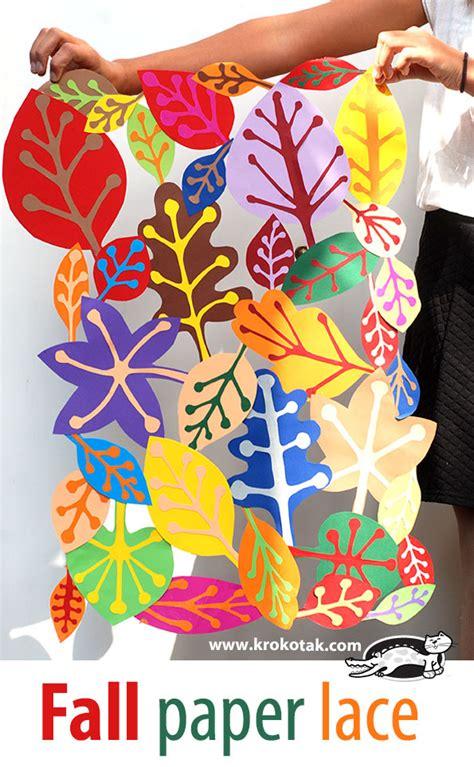 Autumn Paper Crafts - krokotak fall paper lace