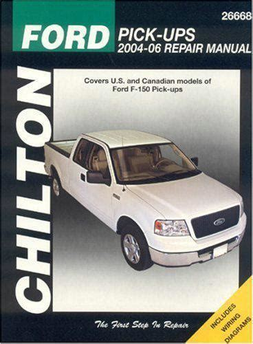 how to download repair manuals 2006 ford f 350 super duty windshield wipe control ford f150 pickups 2004 2006 chilton owners service repair manual 1563926229 9781563926228